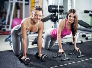 Спорт зал, девушки, фитнес