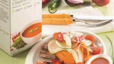 Салат с отварной говядиной и свежими овощами